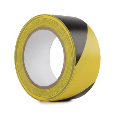 Le Mark Varoitus PVC Teippi 50mm x 33m Musta/Keltainen
