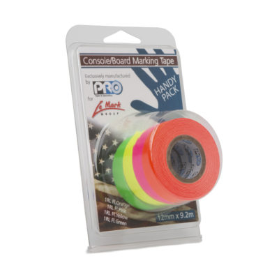 ProTapes Console Tape Mini Rolls Fluorescent Mixed Pack